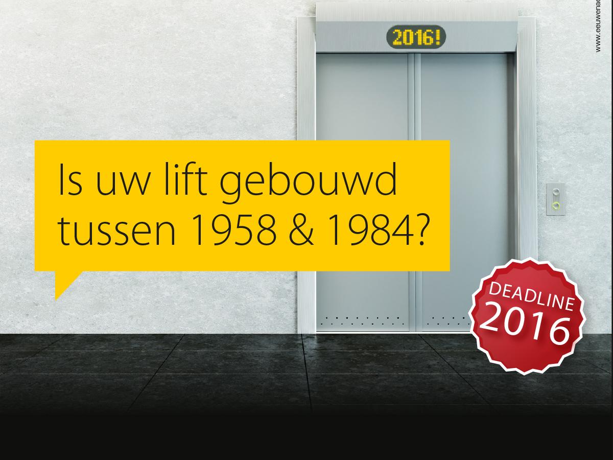 Is uw lift gebouwd  tussen 1958 & 1984? Hoog tijd voor modernisatie!