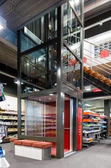 Huislift in sportwinkel Foncé